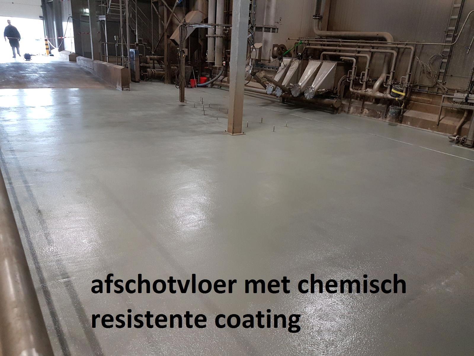 afschot met chemisch resistente coating