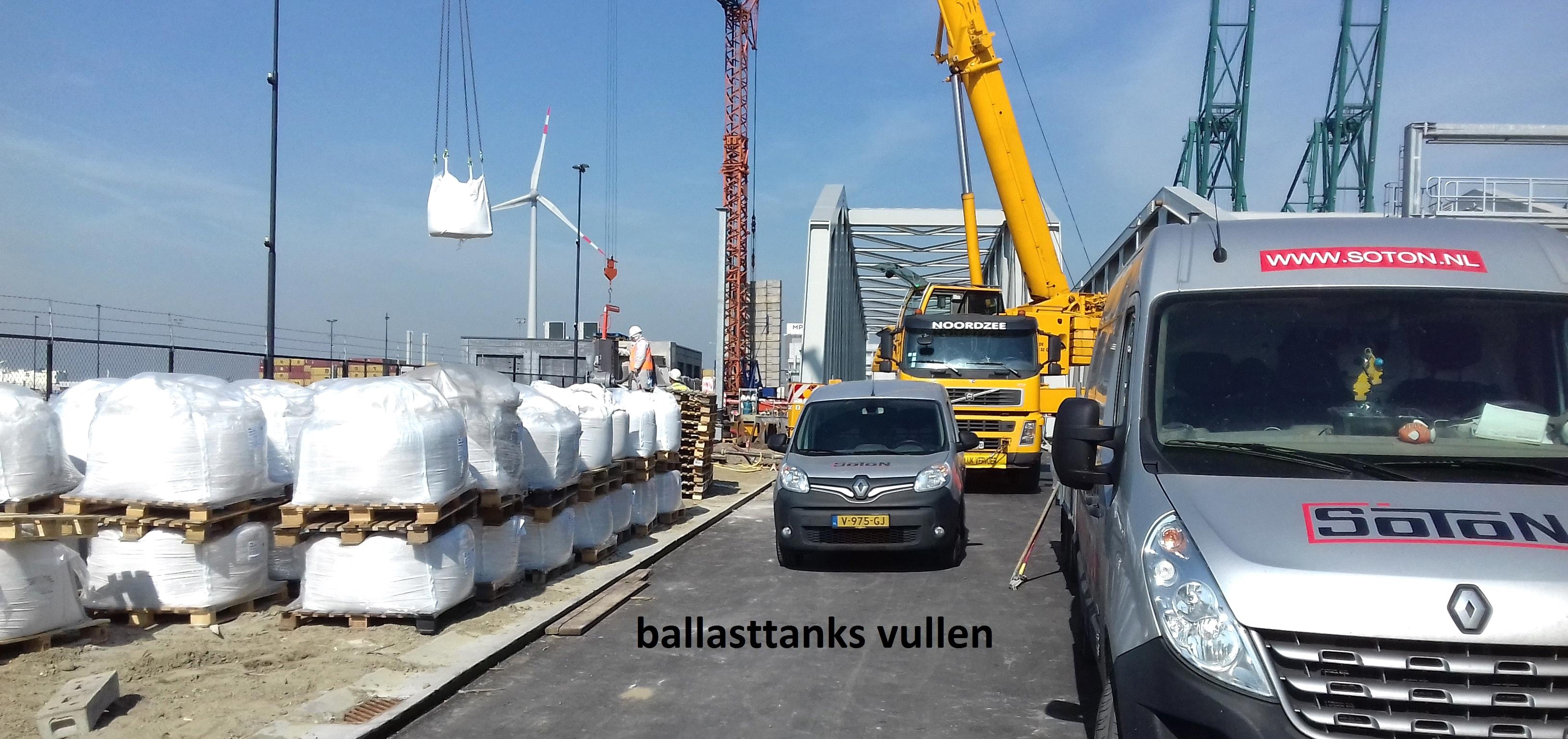 ballast tanks vullen