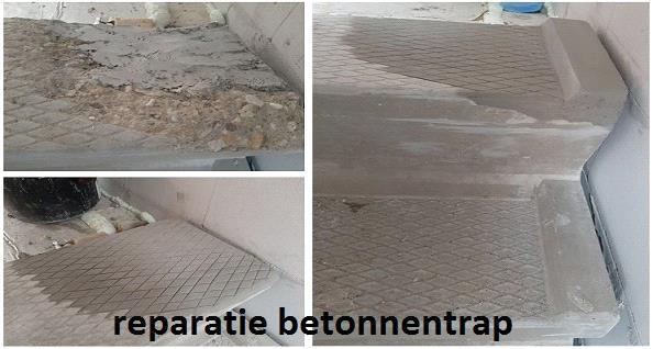reparatie betonnen trap